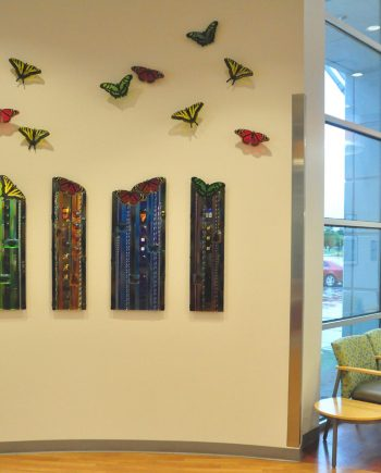 Texas Butterfly Panels by Mark Ditzler (Glass Wall Sculpture)