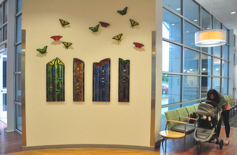 Texas Butterfly Panels by Mark Ditzler (Glass Wall Sculpture)