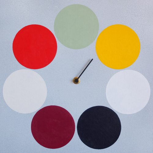 Lucky Color Clock by Jeffrey A. Gomez (Acrylic Painting)