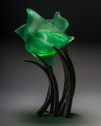 Hemipshere Anodyne in Emerald by Brian Russell (Art Glass)
