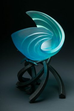 Hemisphere RipCurl in Aqua by Brian Russell (Art Glass)