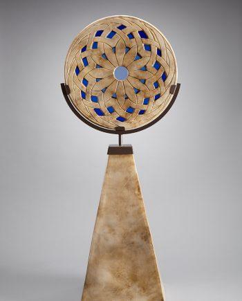 Blue Flower Sculpture by Melody Lane (Ceramic Sculpture)