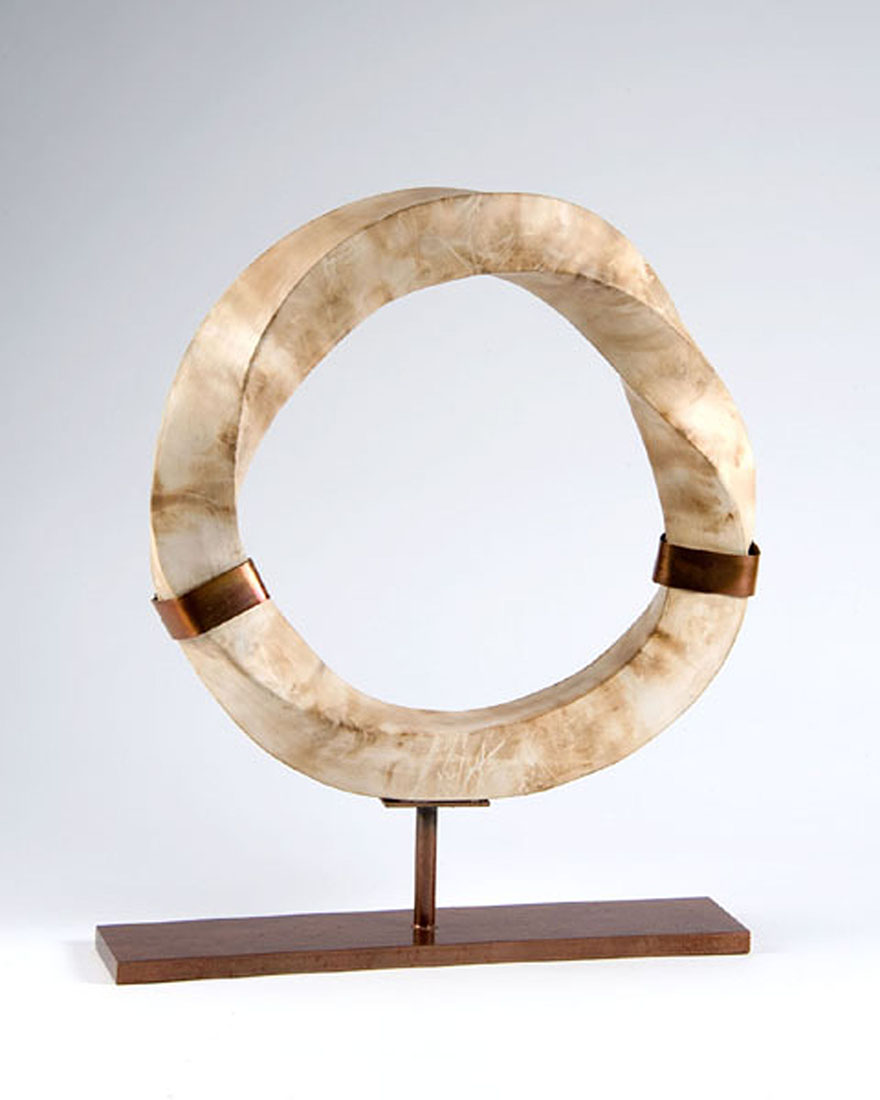 Mobius Cubed by Melody Lane (Ceramic Sculpture)