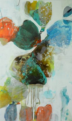 Spring Rain 19 by Liz Barber Leventhal (Mixed Media Painting)