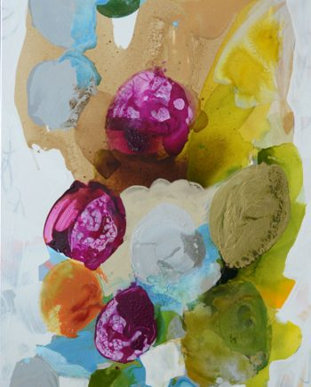 Summer Petals 9 by Liz Barber Leventhal (Mixed Media Painting)
