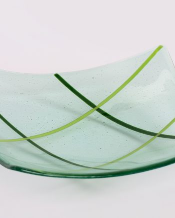 Light Green Glass Bowl by Melody Lane (Art Glass)