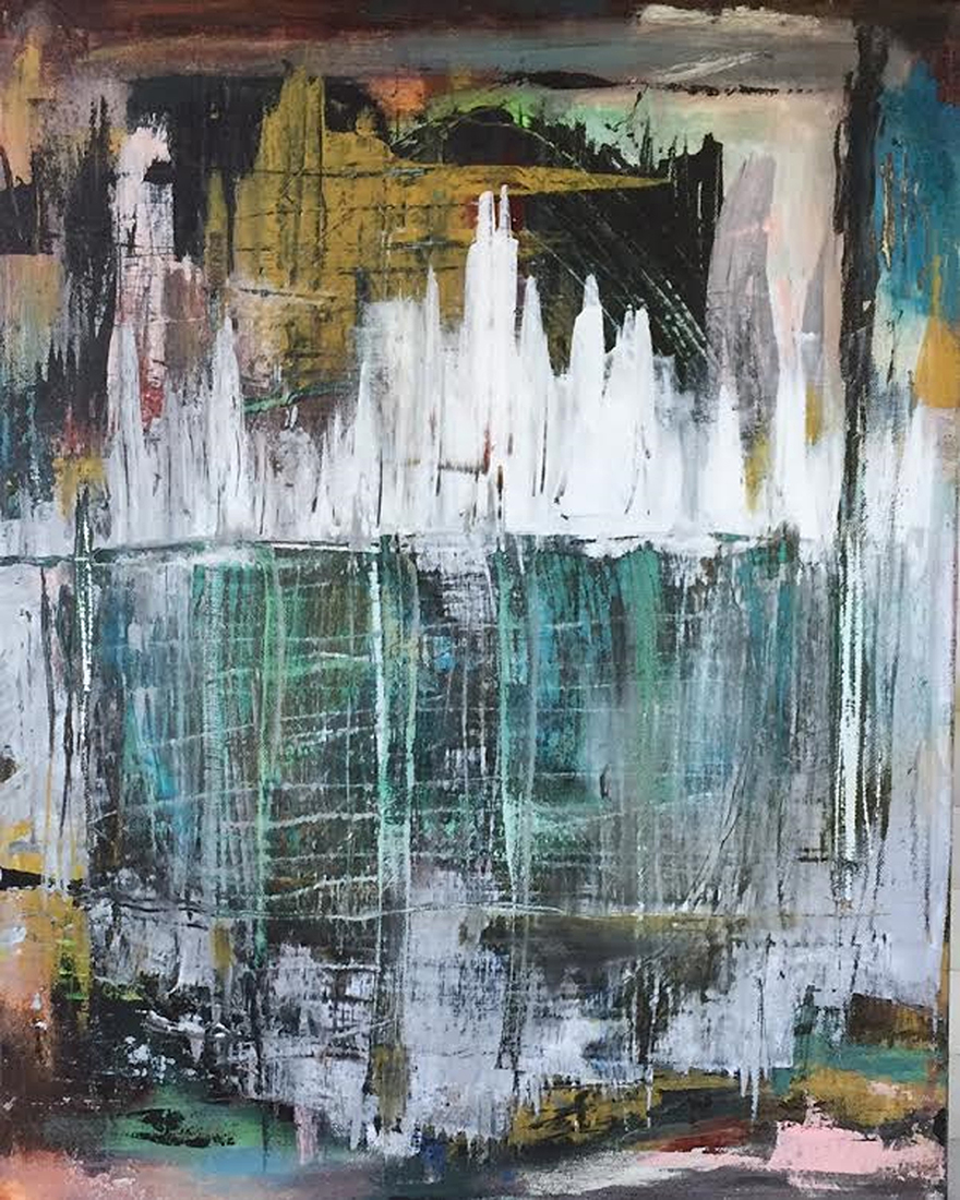 Trevi Memories by A. L. McGriffin (Acrylic Painting)