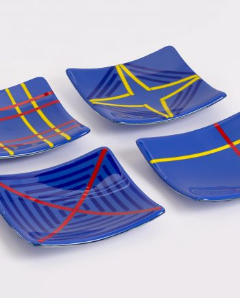 Medium Blue small plates by Melody Lane (Art Glass)