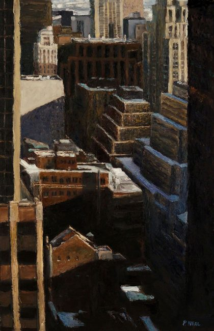 City Canyon by Patty Neal (Oil Painting)