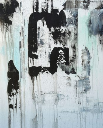 Mostly Black, Sigh by Jora Nelstein (Acrylic Painting)