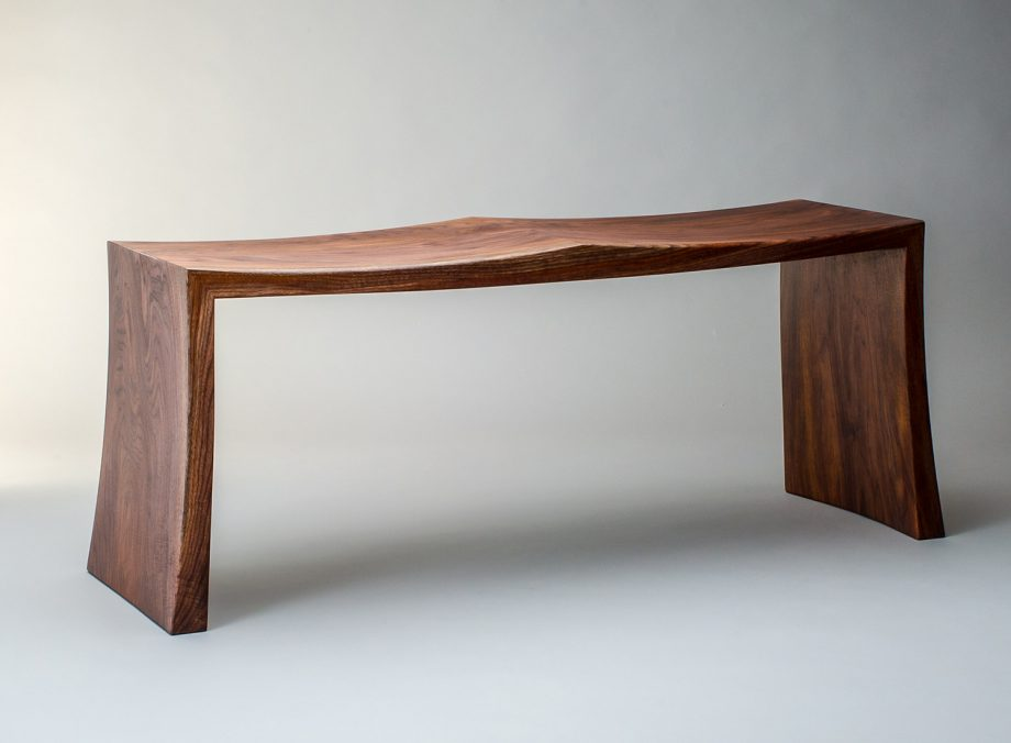 Waterfall Bench by Alan Powell (Wooden Bench)