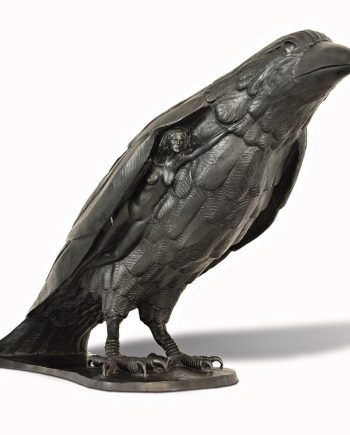 Raven Beauty by Tom Bollinger (Bronze Sculpture)