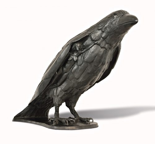 Raven Beauty by Tom Bollinger (Bronze Sculpture) | American Artwork