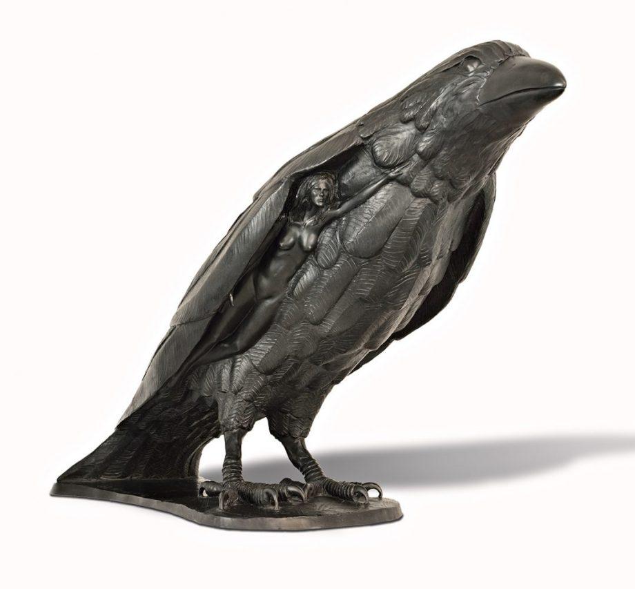 Raven Beauty by Tom Bollinger (Bronze Sculpture)