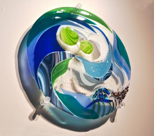 Sheer Inspiration by Bonnie Rubinstein (Glass Sculpture)