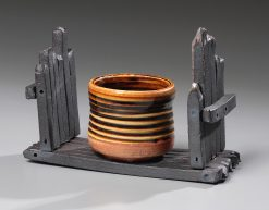 Cup on a Shelf by Jan Schachter (Ceramic Sculpture)