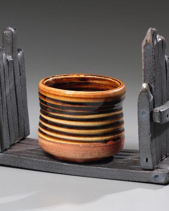 Cup on a Shelf by Jan Schachter (Ceramic Sculpture)