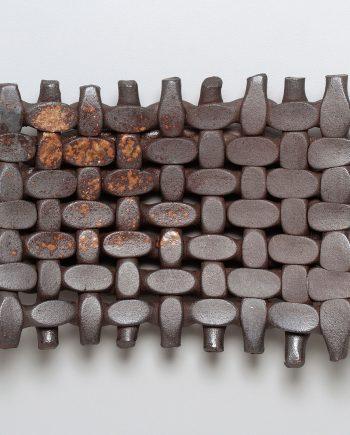 Woven Plate by Jan Schachter (Ceramic Sculpture)
