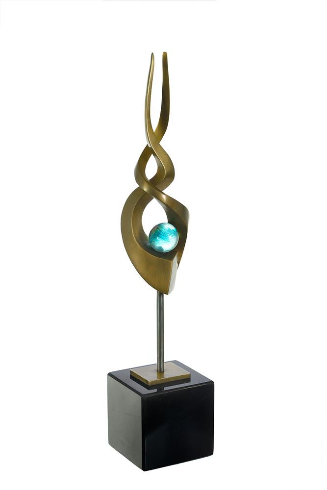 Spiral I by Tom Bollinger (Bronze Sculpture)