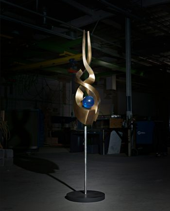 Spiral II by Tom Bollinger (Bronze Sculpture)