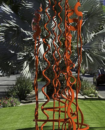 Spiral Blooms #4 by Christopher Thomson (Metal Sculpture)