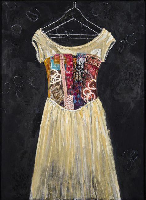 Wedding Dress Realigned by Pamela Underwood (Acrylic Painting)