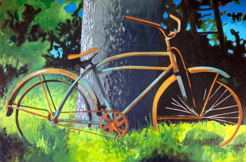 The Old Bike by Reed Weimer (Acrylic Painting)