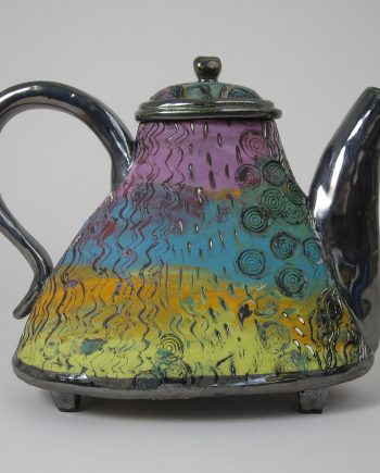 Rainbow Teapot by Melissa Woodburn (Ceramic Teapot)