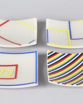 Green small plates by Melody Lane (Art Glass)