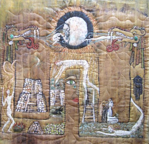 Avenue of the Dead, Fiber Wall Art by Karen Schuman