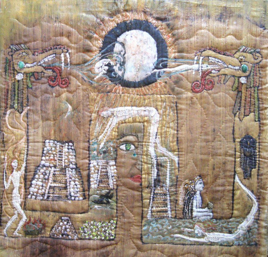 Avenue of the Dead, Fiber Wall Art by Karen Schuman