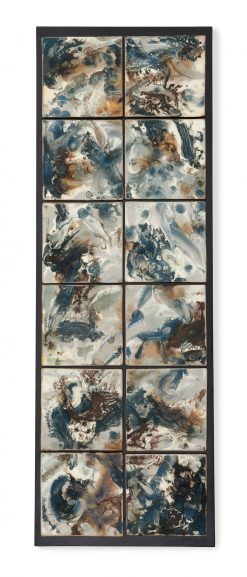 Blue Currents by Kristi Sloniger (Ceramic Wall Sculpture) | American Artwork