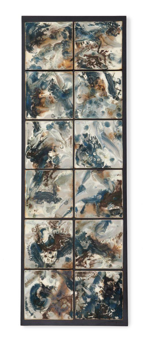Blue Currents by Kristi Sloniger (Ceramic Wall Sculpture) | American Artwork