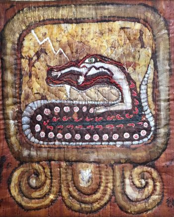 I Chicchan (One Serpent), Fiber Wall Art by Karen Schuman