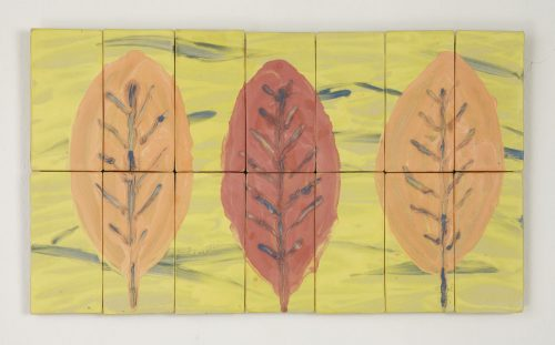 Large Leaf Study by Kristi Sloniger (Ceramic Wall Sculpture) | American Artwork