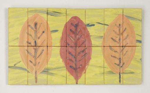 Large Leaf Study by Kristi Sloniger (Ceramic Wall Sculpture) | American Artwork