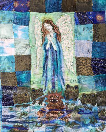 Meditation on Forgiveness, Fiber Wall Art by Karen Schuman