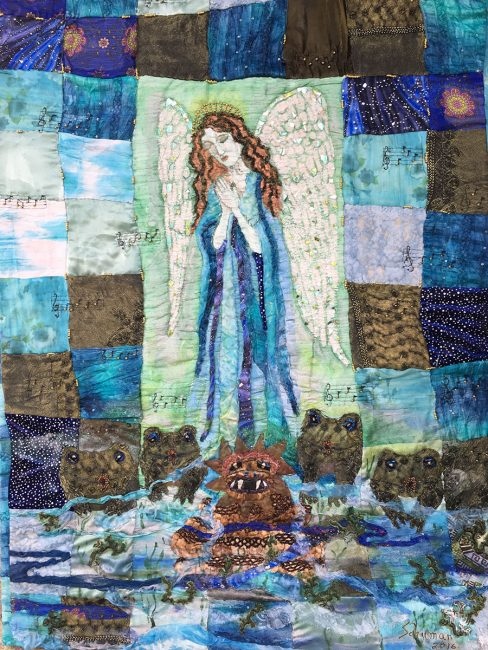 Meditation on Forgiveness, Fiber Wall Art by Karen Schuman