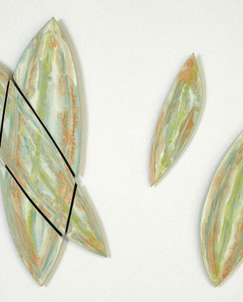 Miami Leaves by Kristi Sloniger (Ceramic Wall Sculpture) | American Artwork