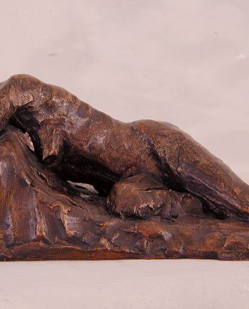 Reclining Study I by Gerald Siciliano (Bronze Tabletop Sculpture) | American Artwork