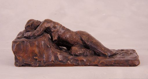 Reclining Study I by Gerald Siciliano (Bronze Tabletop Sculpture)   American Artwork