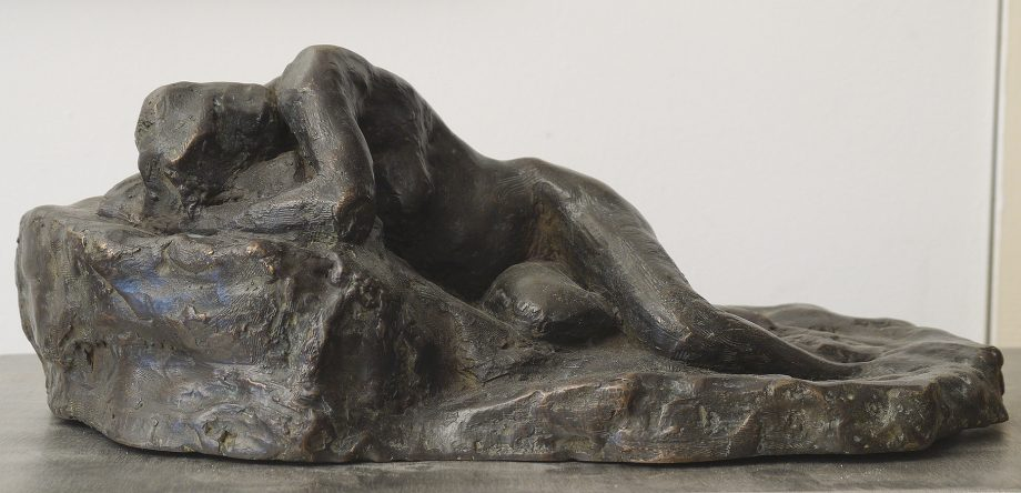 Reclining Study II by Gerald Siciliano (Bronze Tabletop Sculpture) | American Artwork