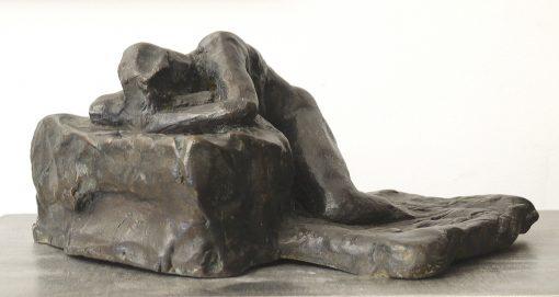 Reclining Study III by Gerald Siciliano (Bronze Tabletop Sculpture) | American Artwork