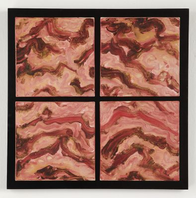 Red Mountains by Kristi Sloniger (Ceramic Wall Sculpture)   American Artwork