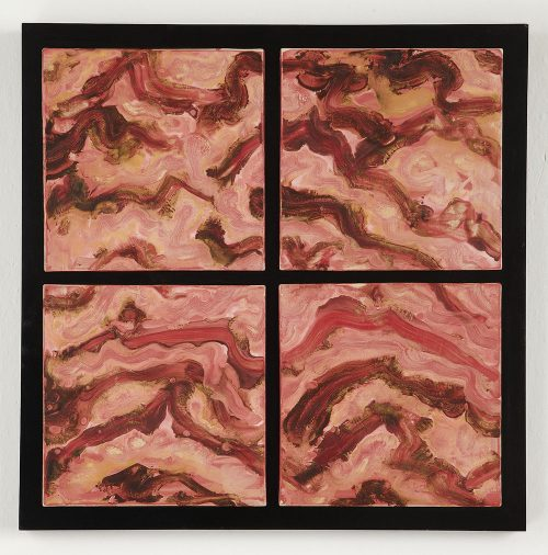 Red Mountains by Kristi Sloniger (Ceramic Wall Sculpture) | American Artwork