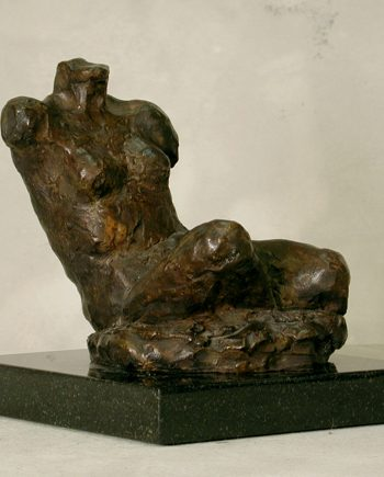 Seated Study III by Gerald Siciliano (Bronze Tabletop Sculpture) | American Artwork