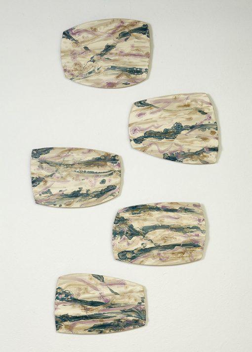 Stepping Stones by Kristi Sloniger (Ceramic Wall Sculpture) | American Artwork