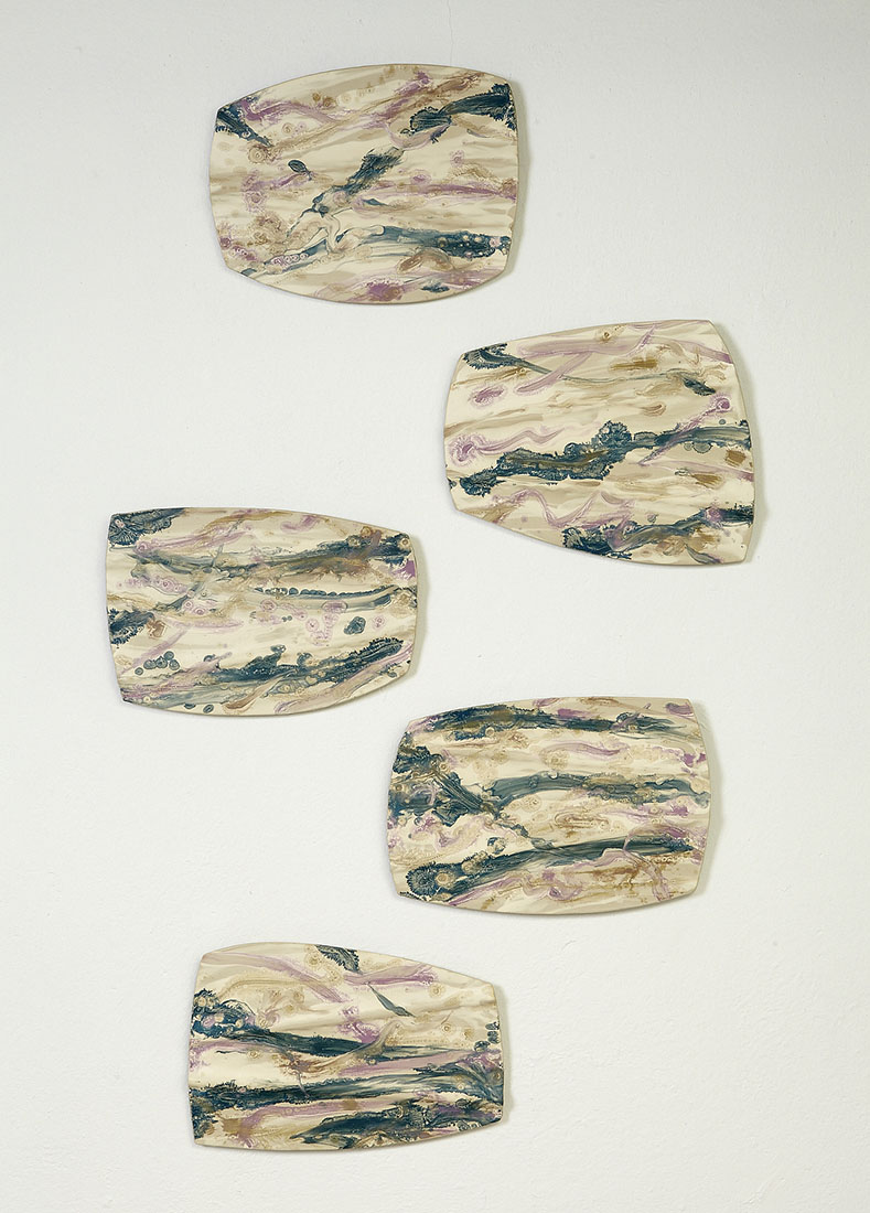 Stepping Stones by Kristi Sloniger (Ceramic Wall Sculpture) | American Artwork