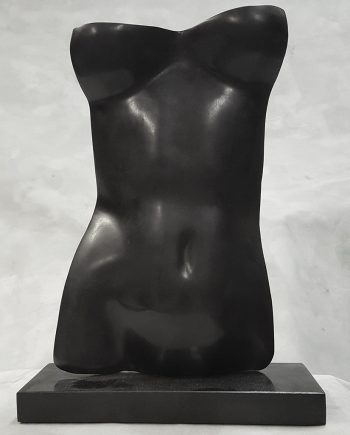 Torso (Nero)  by Gerald Siciliano (Bronze Tabletop Sculpture) | American Artwork