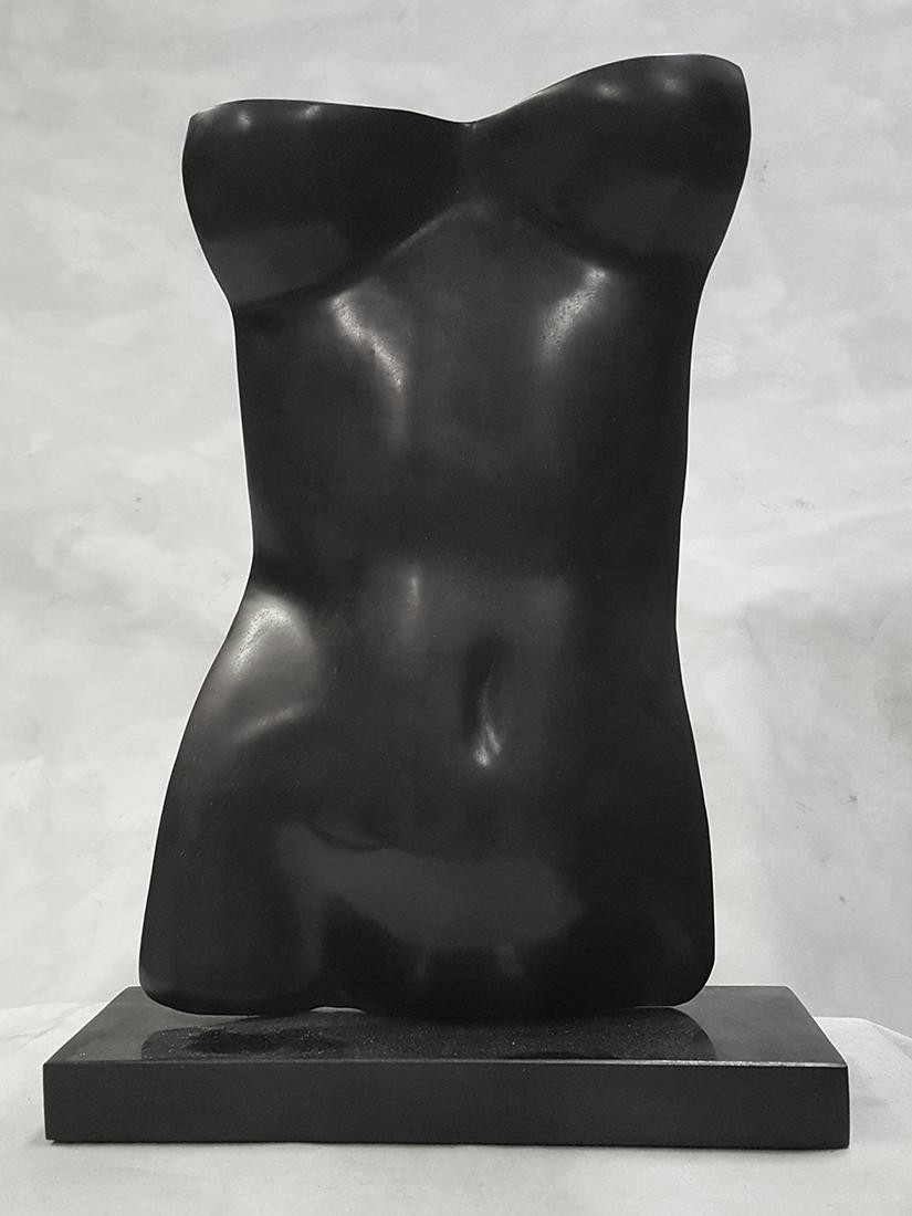 Torso (Nero)  by Gerald Siciliano (Bronze Tabletop Sculpture) | American Artwork